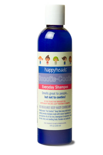 Happyheads® Scootie-Cootie® Everyday Shampoo repels cooties with essential oils