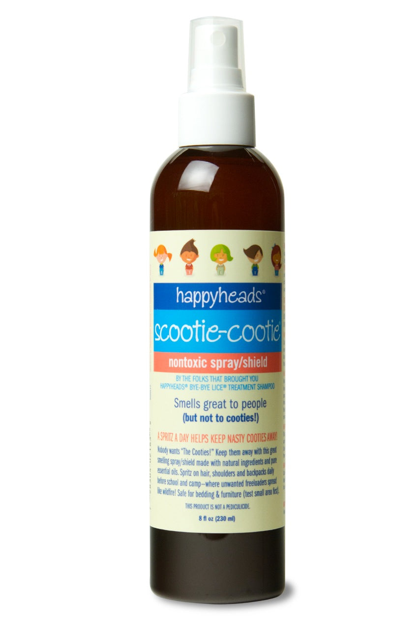 Happyheads® Scootie-Cootie® Nontoxic Spray/Shield, 8oz. repels cooties with essential oils