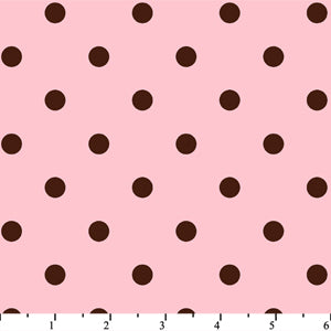 Anti Pill Dots Pink Chocolate Fleece F565