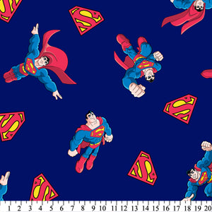 Anti-Pill Superman Shield Super Friends Fleece F932