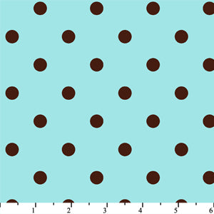 Anti Pill Dots Aqua Chocolate Fleece F568