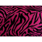 Zebra Fuchsia Fleece F947