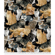 Anti-Pill Wild Wings Allover Cats Fleece F741