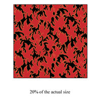 Anti-Pill Red Flames Fleece F542