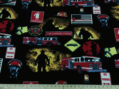 Anti-Pill Fire Fighter Trucks Fleece F617