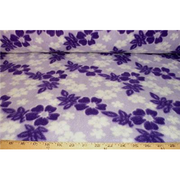Hawaiian Floral Purple Fleece F580