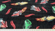 Anti-Pill Hot Wheels Flames Fleece F464