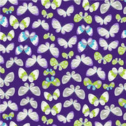 Premium Anti-Pill Butterflies Orchid Fleece F1382