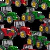 Anti-Pill Tractors Black Fleece F1365