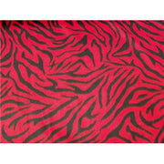 Zebra Red Black Fleece F653
