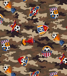 Anti-Pill Soccer Camo Fleece F633
