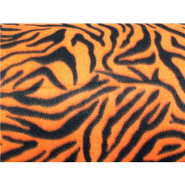 Zebra Orange Black Fleece F562