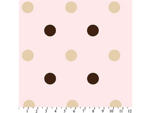 Anti-Pill Big Polka Dot Pink Fleece F786