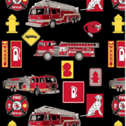 Anti-Pill Fire Trucks Fleece F907