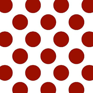 Anti-Pill Med Dots Red Fleece F21