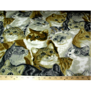 Anti-Pill Cats Fleece F1013