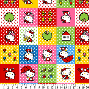 Anti-Pill Hello Kitty Patches Fleece F142