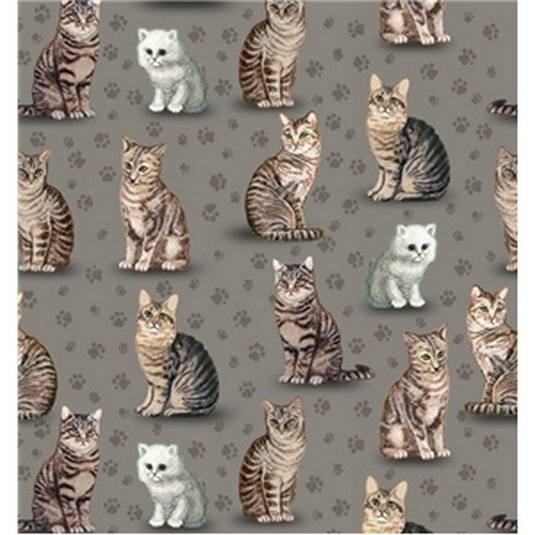 Premium Anti-Pill Purrfect Cats Fleece F408
