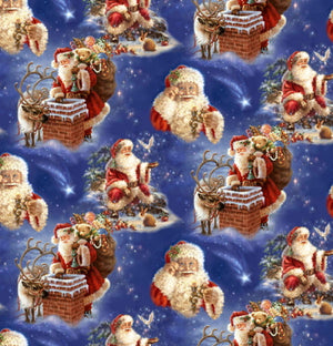 Anti-Pill Santa Chimney By Dona Gelsinger Fleece F1136