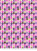 Anti-Pill American Greetings Snowflakes Purple Pink Fleece F480