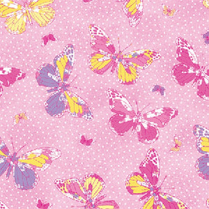 Anti Pill Butterfly Hot Pink Fleece F1195