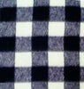 Anti-Pill Buffalo Plaid Black White Fleece F603