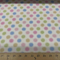 Anti-Pill Pastel Polka Dot Fleece 609