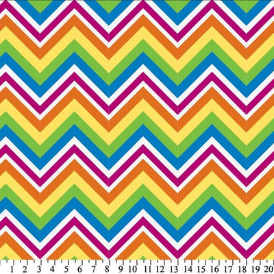 Anti-Pill Rainbow Chevron Fleece F1354