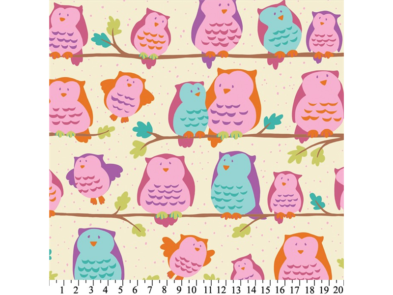 Anti-Pill Owls On Perch Fleece F1348