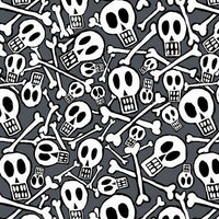 Premium Anti-Pill Skullduggery Skulls Fleece F1387