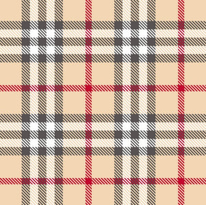 Premium Anti-Pill Kingston Plaid Cream Red Fleece F1491