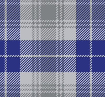Premium Anti-Pill Tartan Plaid Silver Blue Fleece F1483
