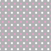 Premium Anti-Pill Simply Dots Pink Grey Fleece F1462