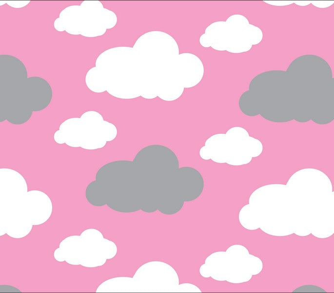 Premium Anti-Pill Dreamy Clouds Pink Fleece F1468