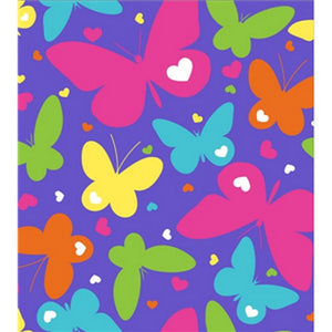 Premium Anti-Pill Rainbow Butterflies Fleece F1473