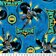 Anti-Pill Batman Flying With Logos Fleece 87