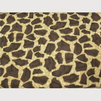 Anti-Pill Brown Giraffe Fleece F631