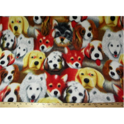 Dog Collage Fleece F1048