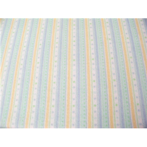 Anti-Pill Blue Yellow Green Stripes Fleece F600