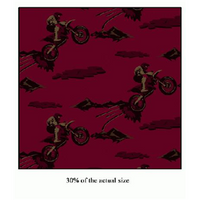 Anti-Pill Dirtbikes Burgundy Fleece F782