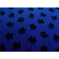 Paw Prints Med Blue Fleece F996