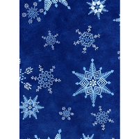 Anti-Pill Snowflakes Fleece F775
