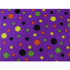 Anti Pill Spots Purple Fleece F581