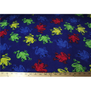 Anti-Pill Frogs Blue Fleece F1080