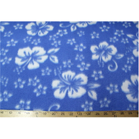 Classic Light Blue Hibiscus Fleece F523