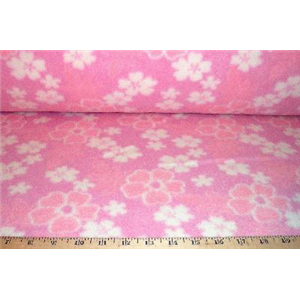 Hawaiian Floral Pink Fleece F526