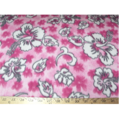 Hibiscus Pink Fleece F531