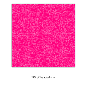 Anti-Pill Hot Pink Floral Fleece F718