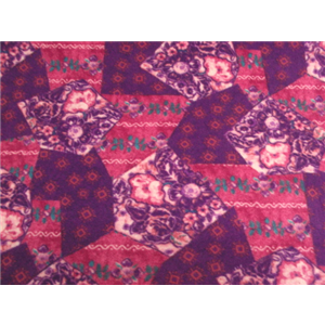 Anti-Pill Purple Floral Fleece F730