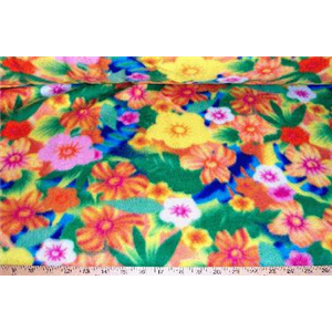 Rainbow Floral Fleece F732